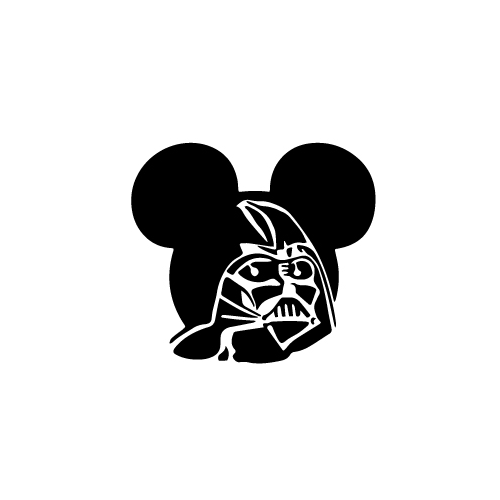 Darth Vader Mickey Vinyl Decal Sticker  Size option will determine the size from the longest side Industry standard high performance calendared vinyl film Cut from Oracle 651 2.5 mil Outdoor durability is 7 years Glossy surface finish