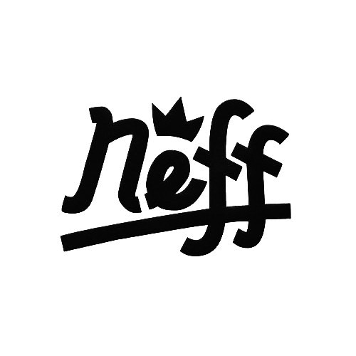 Neff Crown Vinyl Decal Sticker  Size option will determine the size from the longest side Industry standard high performance calendared vinyl film Cut from Oracle 651 2.5 mil Outdoor durability is 7 years Glossy surface finish