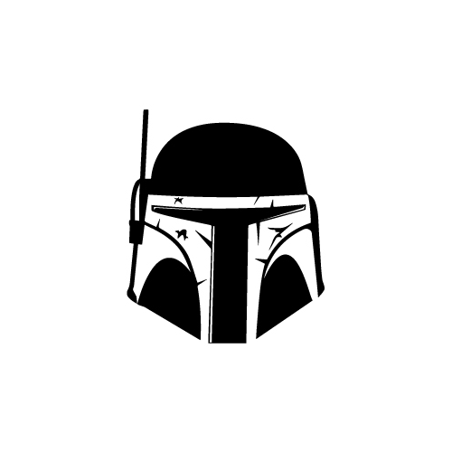 Boba Fett Mask Vinyl Decal Sticker  Size option will determine the size from the longest side Industry standard high performance calendared vinyl film Cut from Oracle 651 2.5 mil Outdoor durability is 7 years Glossy surface finish