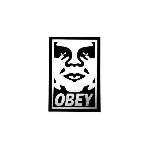Obey Full Vinyl Decal Sticker  Size option will determine the size from the longest side Industry standard high performance calendared vinyl film Cut from Oracle 651 2.5 mil Outdoor durability is 7 years Glossy surface finish