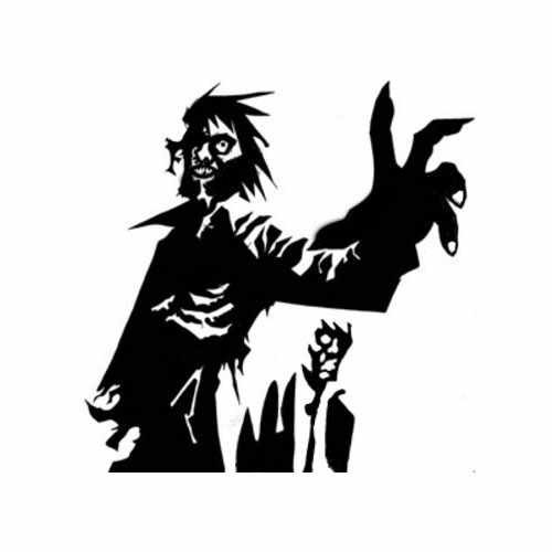Zombie Reaching  Vinyl Decal Sticker  Size option will determine the size from the longest side Industry standard high performance calendared vinyl film Cut from Oracle 651 2.5 mil Outdoor durability is 7 years Glossy surface finish