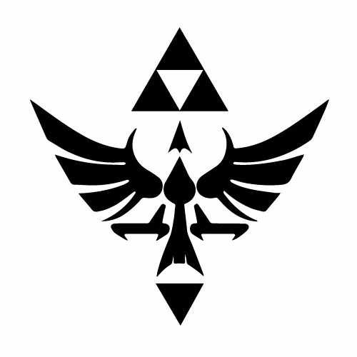 Zelda Hylian Crest Vinyl Decal Sticker  Size option will determine the size from the longest side Industry standard high performance calendared vinyl film Cut from Oracle 651 2.5 mil Outdoor durability is 7 years Glossy surface finish