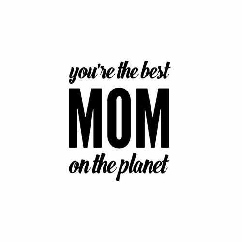 You'Re The Best Mom On The Planet  Vinyl Decal Sticker  Size option will determine the size from the longest side Industry standard high performance calendared vinyl film Cut from Oracle 651 2.5 mil Outdoor durability is 7 years Glossy surface finish