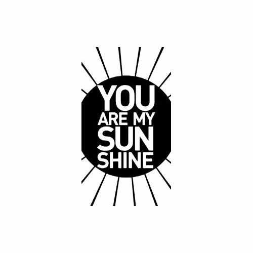 You Are My Sunshine  Vinyl Decal Sticker  Size option will determine the size from the longest side Industry standard high performance calendared vinyl film Cut from Oracle 651 2.5 mil Outdoor durability is 7 years Glossy surface finish