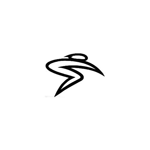 Santa Cruz Bicycles S-Man Vinyl Decal Sticker  Size option will determine the size from the longest side Industry standard high performance calendared vinyl film Cut from Oracle 651 2.5 mil Outdoor durability is 7 years Glossy surface finish