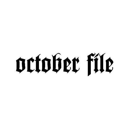 Our October File Band Logo Decal is offered in many color and size options. <strong>PREMIUM QUALITY</strong> <ul>  <li>High Performance Vinyl</li>  <li>3 mil</li>  <li>5 - 7 Outdoor Lifespan</li>  <li>High Glossy</li>  <li>Made in the USA</li> </ul> &nbsp;