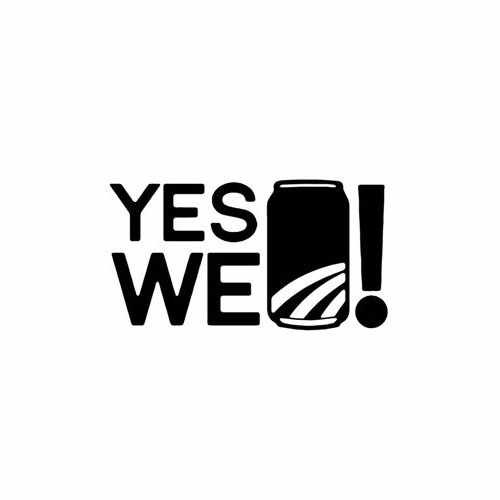 Yes We Can  Vinyl Decal Sticker  Size option will determine the size from the longest side Industry standard high performance calendared vinyl film Cut from Oracle 651 2.5 mil Outdoor durability is 7 years Glossy surface finish