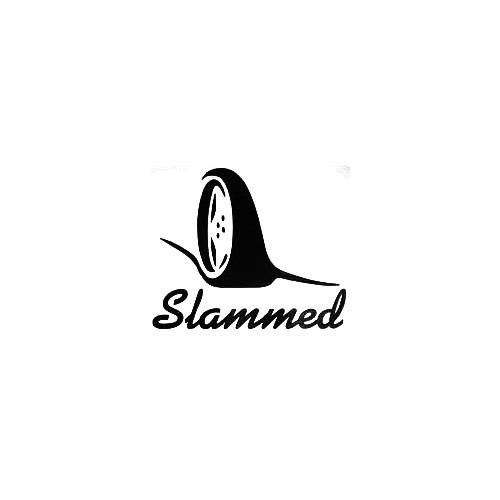 Slammed Wheel Vinyl Decal Sticker  Size option will determine the size from the longest side Industry standard high performance calendared vinyl film Cut from Oracle 651 2.5 mil Outdoor durability is 7 years Glossy surface finish