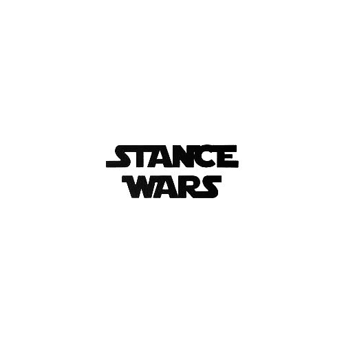 Stance Wars Vinyl Decal Sticker  Size option will determine the size from the longest side Industry standard high performance calendared vinyl film Cut from Oracle 651 2.5 mil Outdoor durability is 7 years Glossy surface finish