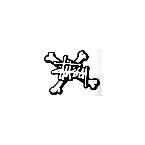 Stussy Bones Vinyl Decal Sticker  Size option will determine the size from the longest side Industry standard high performance calendared vinyl film Cut from Oracle 651 2.5 mil Outdoor durability is 7 years Glossy surface finish