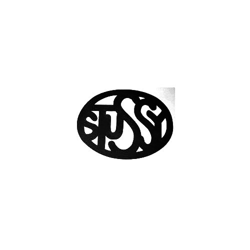 Stussy Oval Vinyl Decal Sticker  Size option will determine the size from the longest side Industry standard high performance calendared vinyl film Cut from Oracle 651 2.5 mil Outdoor durability is 7 years Glossy surface finish
