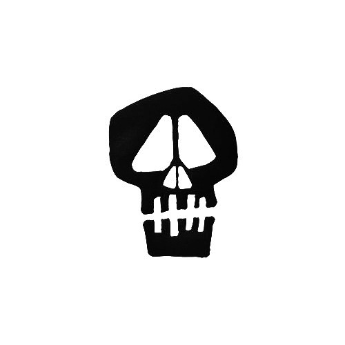 Stussy Skull Vinyl Decal Sticker  Size option will determine the size from the longest side Industry standard high performance calendared vinyl film Cut from Oracle 651 2.5 mil Outdoor durability is 7 years Glossy surface finish