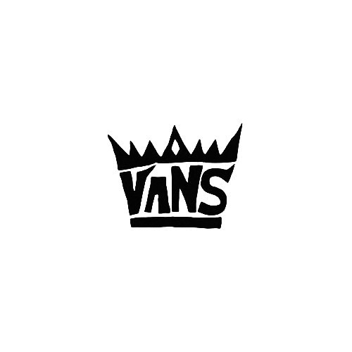 Vans Crown Vinyl Decal Sticker  Size option will determine the size from the longest side Industry standard high performance calendared vinyl film Cut from Oracle 651 2.5 mil Outdoor durability is 7 years Glossy surface finish