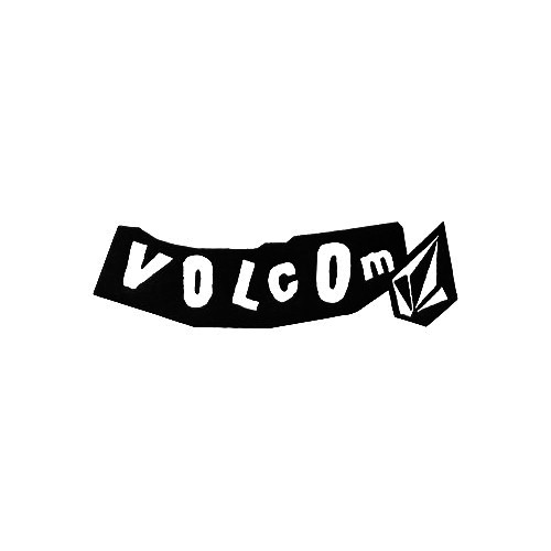Volcom Double Scruffy Vinyl Decal Sticker  Size option will determine the size from the longest side Industry standard high performance calendared vinyl film Cut from Oracle 651 2.5 mil Outdoor durability is 7 years Glossy surface finish