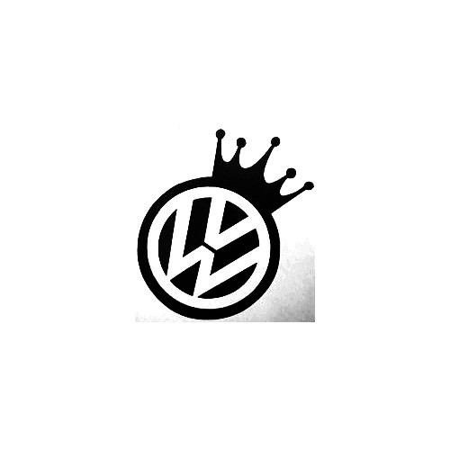 Vw Crown Vinyl Decal Sticker  Size option will determine the size from the longest side Industry standard high performance calendared vinyl film Cut from Oracle 651 2.5 mil Outdoor durability is 7 years Glossy surface finish