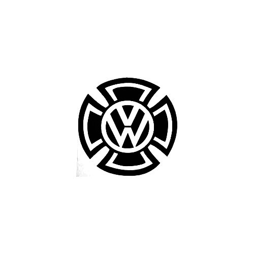 Vw Maltese Cross Vinyl Decal Sticker  Size option will determine the size from the longest side Industry standard high performance calendared vinyl film Cut from Oracle 651 2.5 mil Outdoor durability is 7 years Glossy surface finish
