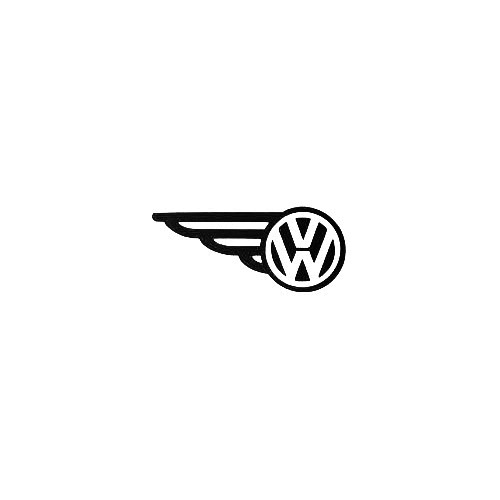 Vw Scallop Vinyl Decal Sticker  Size option will determine the size from the longest side Industry standard high performance calendared vinyl film Cut from Oracle 651 2.5 mil Outdoor durability is 7 years Glossy surface finish