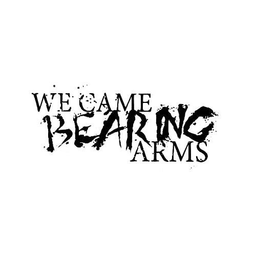 Our We Came Bearing Arms Band Logo Decal is offered in many color and size options. <strong>PREMIUM QUALITY</strong> <ul>  <li>High Performance Vinyl</li>  <li>3 mil</li>  <li>5 - 7 Outdoor Lifespan</li>  <li>High Glossy</li>  <li>Made in the USA</li> </ul> &nbsp;