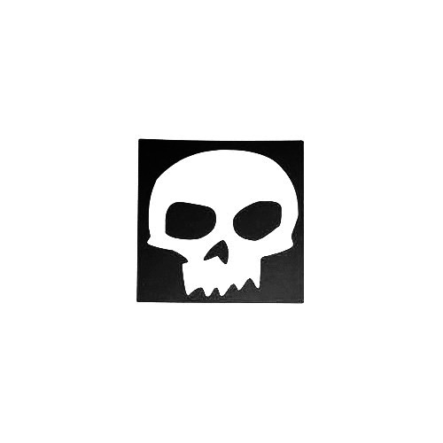 Zero Skateboards Skull Outer Vinyl Decal Sticker  Size option will determine the size from the longest side Industry standard high performance calendared vinyl film Cut from Oracle 651 2.5 mil Outdoor durability is 7 years Glossy surface finish