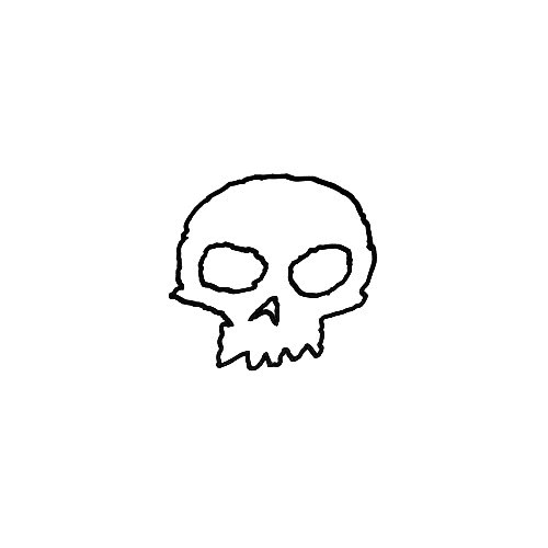Zero Skateboards Skull Outline Vinyl Decal Sticker  Size option will determine the size from the longest side Industry standard high performance calendared vinyl film Cut from Oracle 651 2.5 mil Outdoor durability is 7 years Glossy surface finish