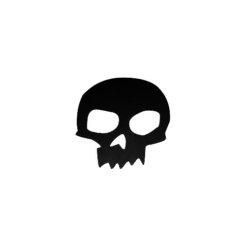 Zero Skateboards Skull Vinyl Decal Sticker  Size option will determine the size from the longest side Industry standard high performance calendared vinyl film Cut from Oracle 651 2.5 mil Outdoor durability is 7 years Glossy surface finish