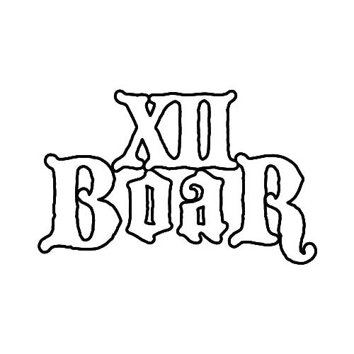 Our XII Boar Band Logo Decal is offered in many color and size options. <strong>PREMIUM QUALITY</strong> <ul>  	<li>High Performance Vinyl</li>  	<li>3 mil</li>  	<li>5 - 7 Outdoor Lifespan</li>  	<li>High Glossy</li>  	<li>Made in the USA</li> </ul> &nbsp;