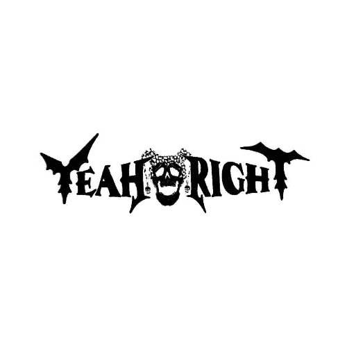 Our Yeah Right Band Logo Decal is offered in many color and size options. <strong>PREMIUM QUALITY</strong> <ul>  <li>High Performance Vinyl</li>  <li>3 mil</li>  <li>5 - 7 Outdoor Lifespan</li>  <li>High Glossy</li>  <li>Made in the USA</li> </ul> &nbsp;