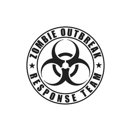 12 Zombie Outbreak Vinyl Sticker