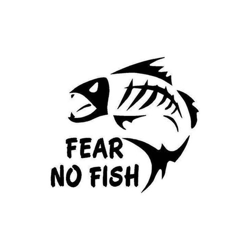 21 Fear No Fish Vinyl Sticker