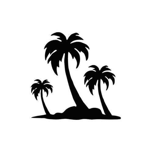 44 Island Palm Trees 4 Vinyl Sticker