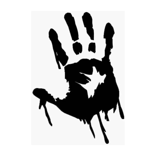 62 Zombie Handprint Vinyl Sticker