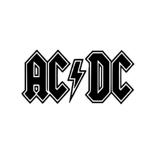 Ac Dc Ac Dc Logo Ac Dc Vinyl Sticker