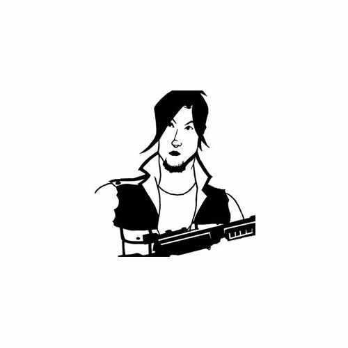 Walking Dead; Daryl Dixon  Vinyl Decal Sticker  Size option will determine the size from the longest side Industry standard high performance calendared vinyl film Cut from Oracle 651 2.5 mil Outdoor durability is 7 years Glossy surface finish