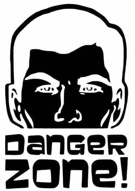 Archer Danger Zone Archer Danger Zone Yeti Vinyl Sticker