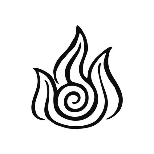 Avatar Fire Nation Symbol 910 Vinyl Sticker