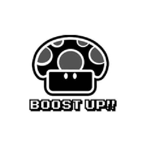 Boost Up Magic Mushroom Vinyl Sticker
