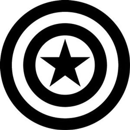 Captain America Shield Silhouette Vinyl Decal