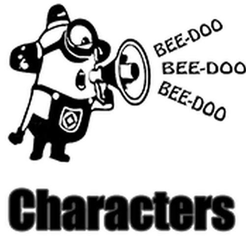 Characters Vinyl Sticker