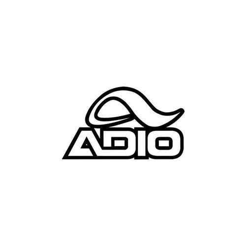 Corporate Logo s Adio Skate Style 2 Vinyl Sticker