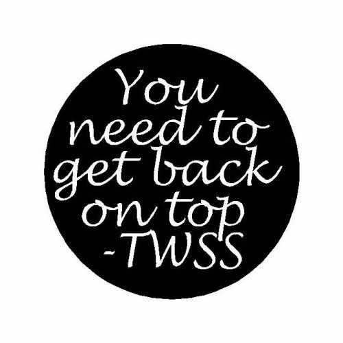 Twss You Need To Get Back On Top  Vinyl Decal Sticker  Size option will determine the size from the longest side Industry standard high performance calendared vinyl film Cut from Oracle 651 2.5 mil Outdoor durability is 7 years Glossy surface finish
