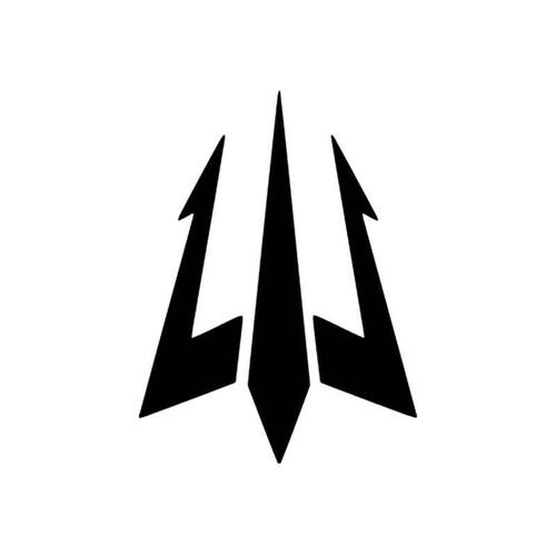 Corporate Logo s Trident Surf Style 1 Vinyl Sticker