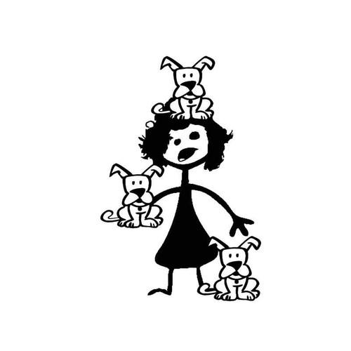 Crazy Dog Lady Vinyl Sticker