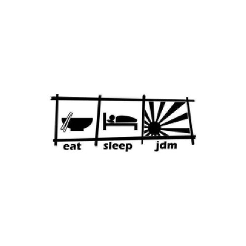Eat Sleep Jdm Chopstick Style Vinyl Sticker