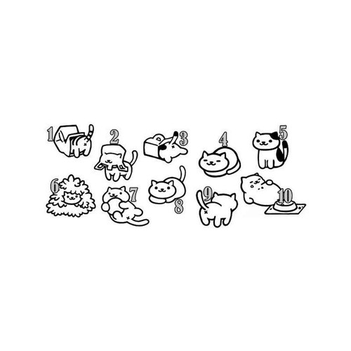 E Neko Atsume Cat For Vinyl Sticker