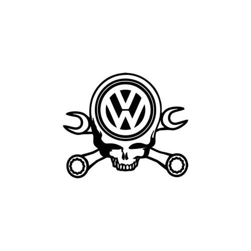 Euro s Volkswagen Skull Crossed Wrenches Vinyl Sticker