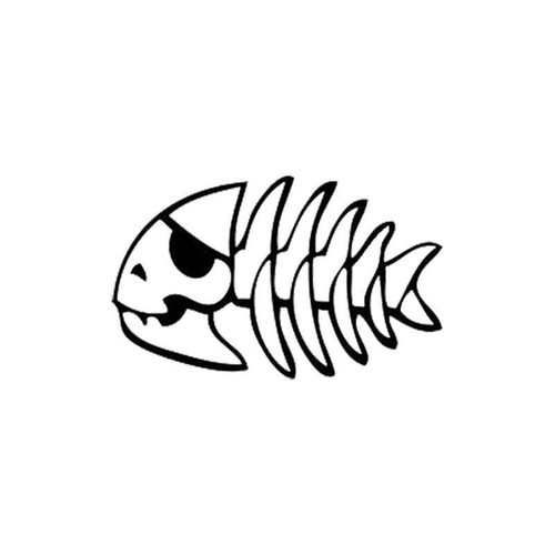 Fish Skeleton 70 Vinyl Sticker