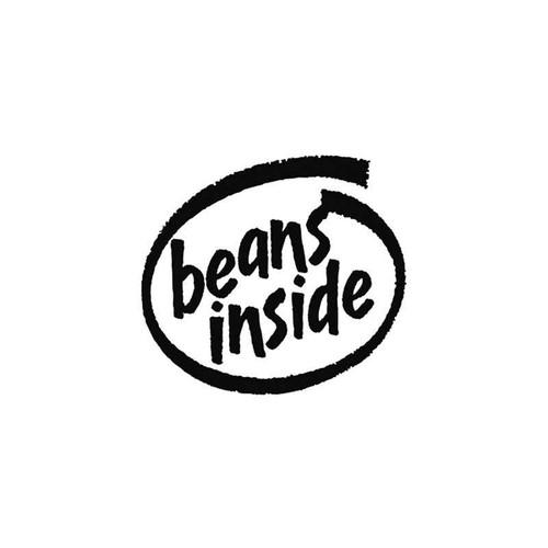 Funny s Beans Inside Vinyl Sticker