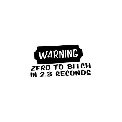 Funny s Warning Bitch Vinyl Sticker