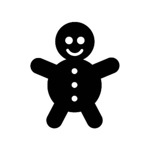 Gingerbread Man 50 Vinyl Sticker
