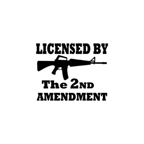 Gun s Licensed 2nd Amendment Guns Style 1 Vinyl Sticker